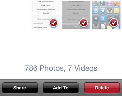 how to delete photos from iphone 5